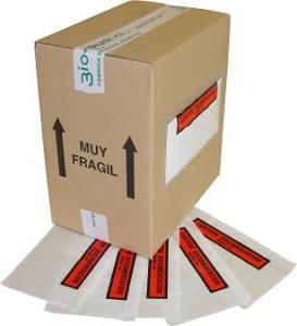 "Sobres Contiene Albarán ""Packing List"""