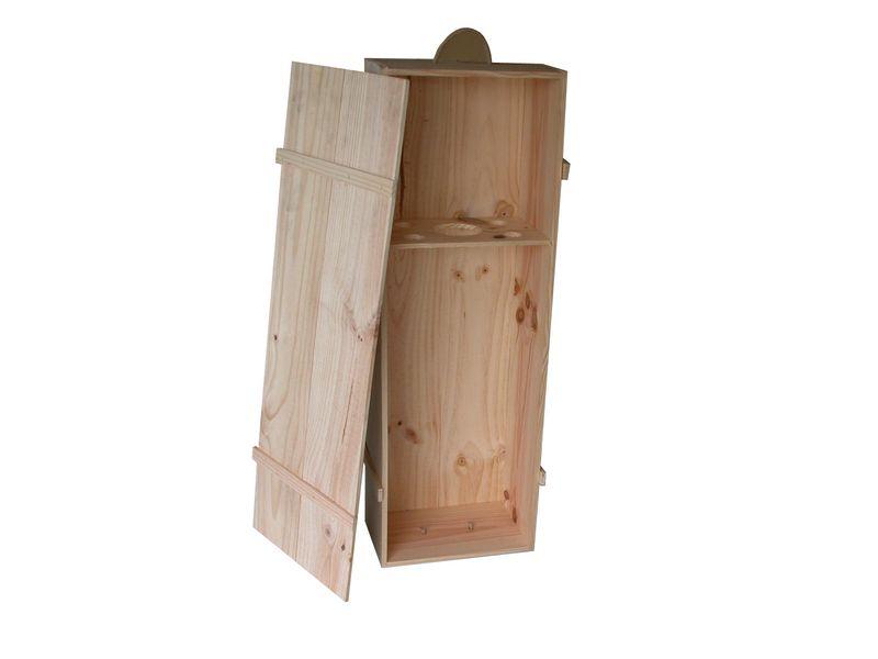 Caja de madera para jam n con tapa clavada for Caja madera con tapa
